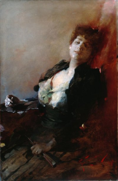 Lady with a cigarette